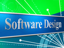 Software Design Means Designed Concept And Programming Royalty Free Stock Image