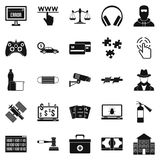 Software developer icons set, simple style. Software developer icons set. Simple set of 25 software developer vector icons for web isolated on white background Royalty Free Stock Photo