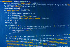 Software developer workspace screen Royalty Free Stock Image