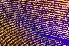 Software developer workspace screen. Programming code abstract screen software developer. Computer script stock illustration