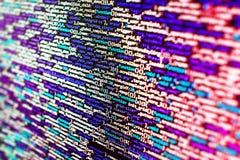 Software developer workspace screen. Programming code abstract screen software developer. Computer script stock photography