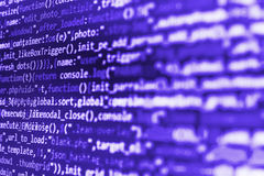 Software developer workspace screen Stock Image