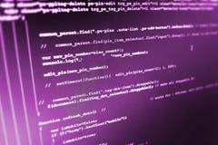 Software developer workspace screen. Programming code abstract screen software developer. Computer script royalty free illustration