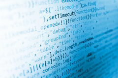 Software developer workspace screen Royalty Free Stock Photography