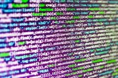 Software developer workspace screen Stock Photos