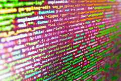 Software developer workspace screen Stock Image