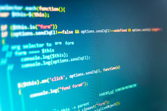 Software developer workspace screen Royalty Free Stock Images