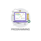 Software Development Computer Programming Device Technology Icon. Vector Illustration royalty free illustration