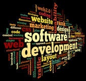 Software development concept in tag cloud Royalty Free Stock Image