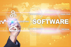 Software development. Data Digital Programs System Technology Concept.  Royalty Free Stock Photography