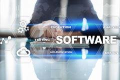 Software development. Data Digital Programs System Technology Concept. Software development. Data Digital Programs System Technology Concept Royalty Free Stock Photos