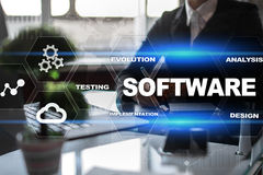 Software development. Data Digital Programs System Technology Concept. Royalty Free Stock Image