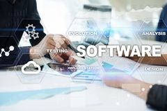 Software development. Data Digital Programs System Technology Concept. Software development. Data Digital Programs System Technology Concept Royalty Free Stock Images