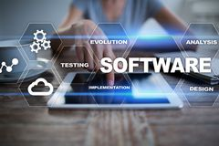 Software development. Data Digital Programs System Technology Concept. Software development. Data Digital Programs System Technology Concept Royalty Free Stock Photography