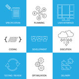 Software Development Life-cycle Process - Concept Vector Graphic Stock Images