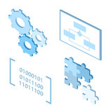 Software development life-cycle process  icons. Stock Photography