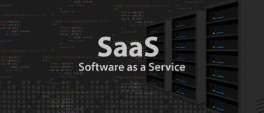 Software di SaaS come linea di codice di servizio di applicazione di programmazione di Internet Fotografia Stock