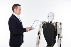 Software di sviluppo dello scienziato di buon senso analitico per i robot fotografie stock libere da diritti