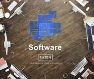 Software Digital Electronics Internet Programs Concept Stock Photos