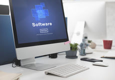 Software Digital Electronics Internet Programs Concept. Digital Electronics Internet Programs Concept Stock Image