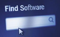Software do achado Fotografia de Stock Royalty Free