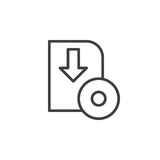 Software download line icon, outline vector sign Royalty Free Stock Photography