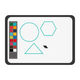 Software draw colors drawing icon. Isolated illustration vector illustration
