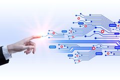 Software en cyberspace concept royalty-vrije stock afbeeldingen