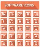 Software en Gebruikersinterfaceknopen, Oranje versie Royalty-vrije Stock Fotografie