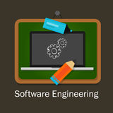 Software engineering computer gear development study Stock Image