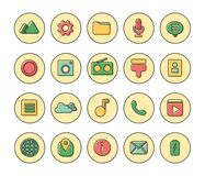 Software Flat Icons. EPS 10 file. Very simple with circle and line Stock Photos