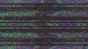 Software generated abstract footage, rainbow corrupted data effect.
