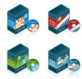 Software Icons Set 57 d Royalty Free Stock Images