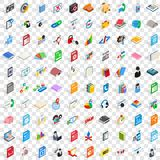 100 software icons set, isometric 3d style. 100 software icons set in isometric 3d style for any design vector illustration Royalty Free Stock Photos