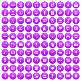 100 software icons set purple. 100 software icons set in purple circle isolated on white vector illustration stock illustration