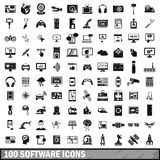 100 software icons set in simple style. For any design vector illustration Stock Photos