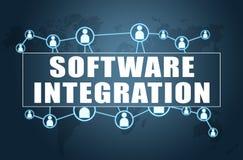 Software-Integration vektor abbildung