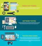 Software, juegos, prueba del desplome de los teléfonos libre illustration