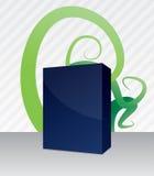 Software-Kasten mit Blumenhintergrund Lizenzfreie Stockfotografie