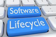 Software Lifecycle concept Stock Image