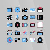 Software media icons Royalty Free Stock Photos