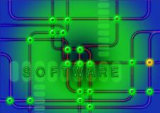 Software nel moto Fotografie Stock Libere da Diritti