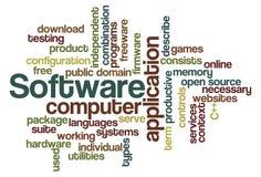 Software - nube de la palabra stock de ilustración