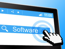 Software Online Represents World Wide Web And Programming Royalty Free Stock Photos