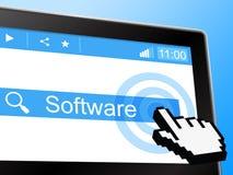 Software online stellt World Wide Web und die Programmierung dar vektor abbildung