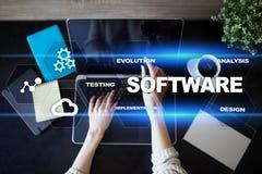 Software-ontwikkeling Concept van de het Systeemtechnologie van gegevens het Digitale Programma's royalty-vrije stock foto