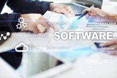 Software-ontwikkeling Concept van de het Systeemtechnologie van gegevens het Digitale Programma's stock afbeeldingen