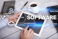 Software-ontwikkeling Concept van de het Systeemtechnologie van gegevens het Digitale Programma's royalty-vrije stock foto's