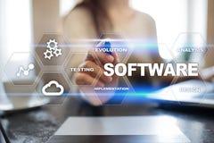 Software-ontwikkeling Concept van de het Systeemtechnologie van gegevens het Digitale Programma's royalty-vrije stock afbeelding