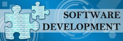 Software-ontwikkeling Techy Achtergrond Royalty-vrije Stock Afbeeldingen